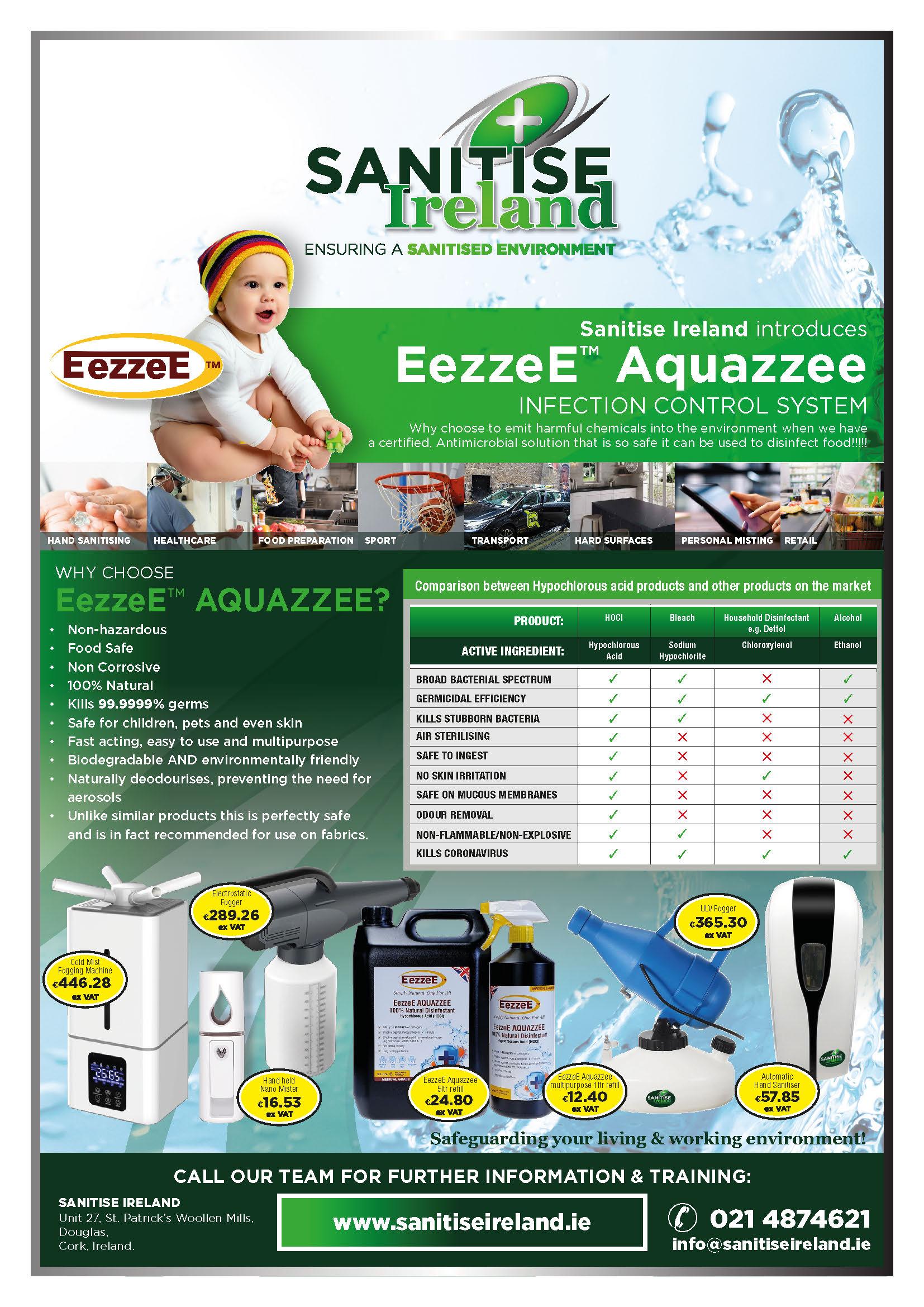Sanitise Ireland - EezzeE insert