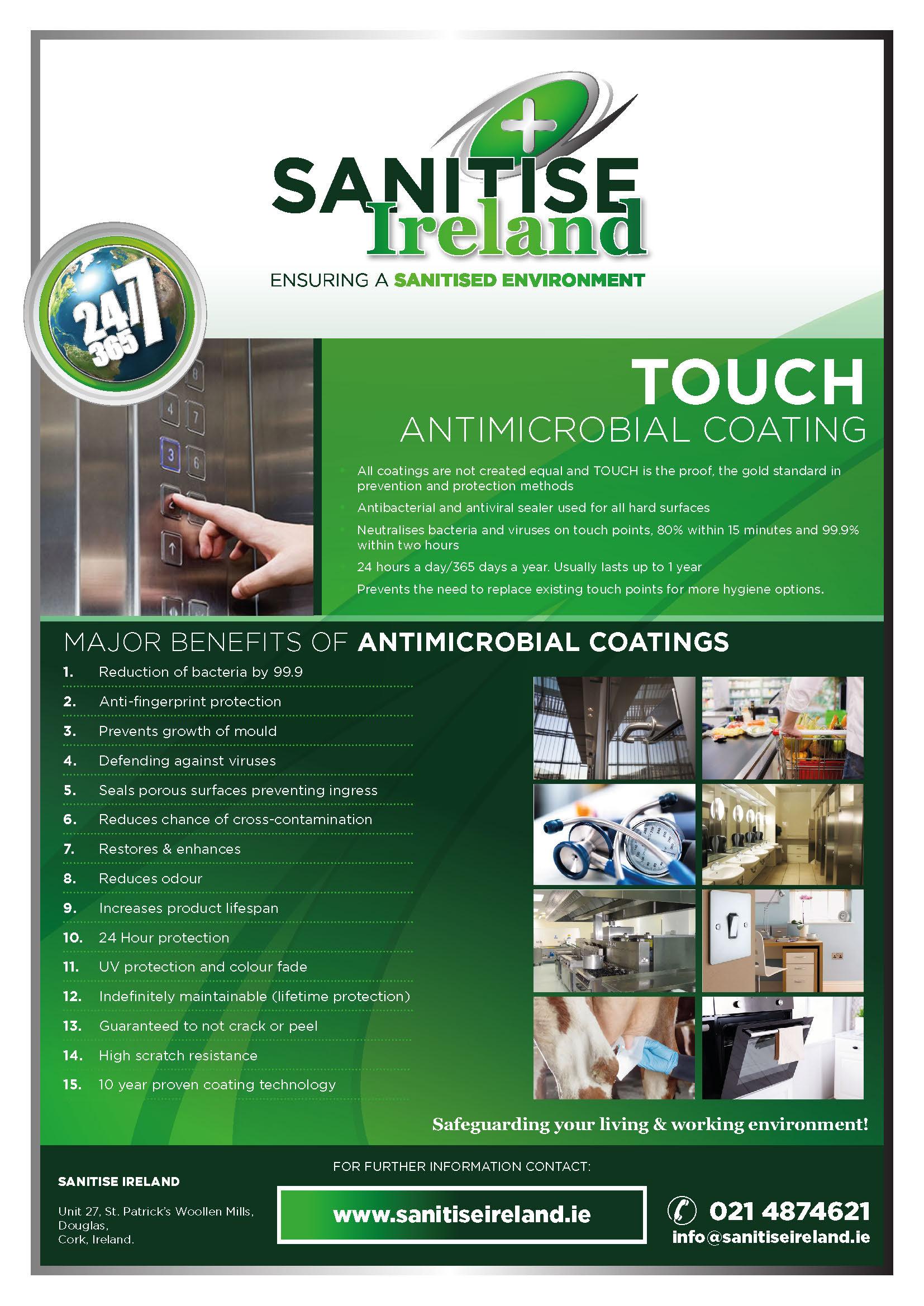 Sanitise Ireland - Touch insert