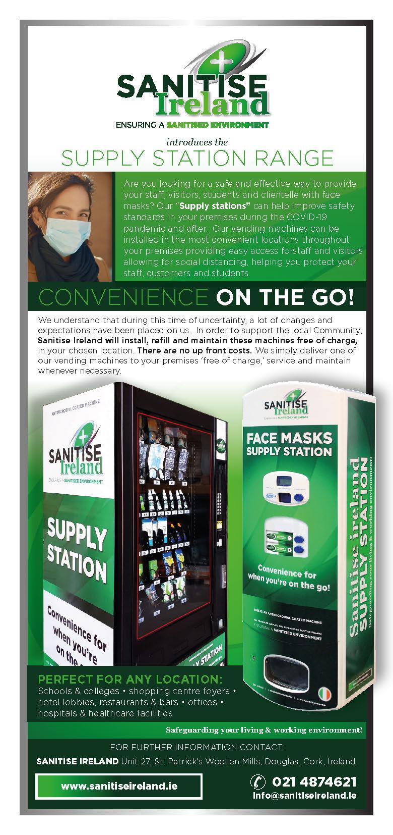 Sanitise Ireland - Vend Supply Station