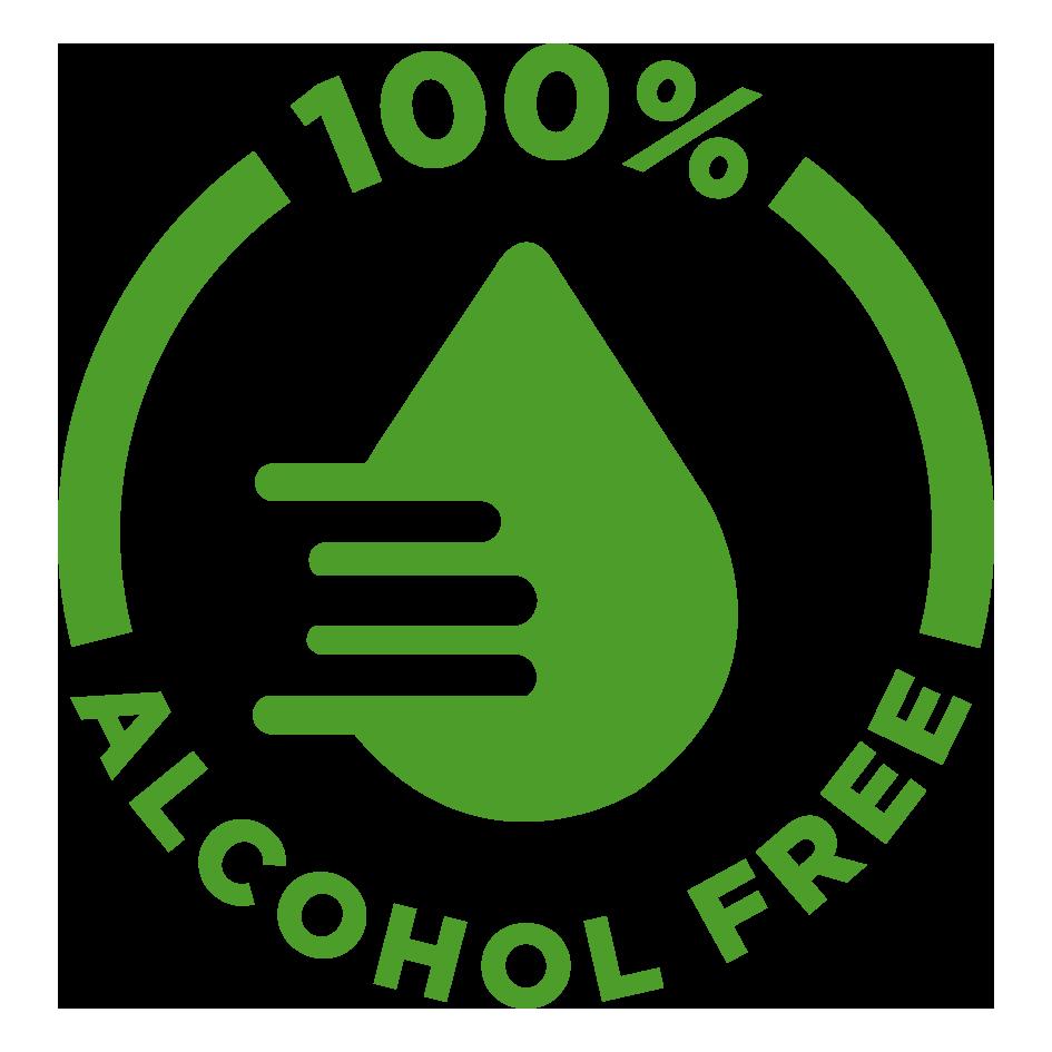 100% Alcahol free