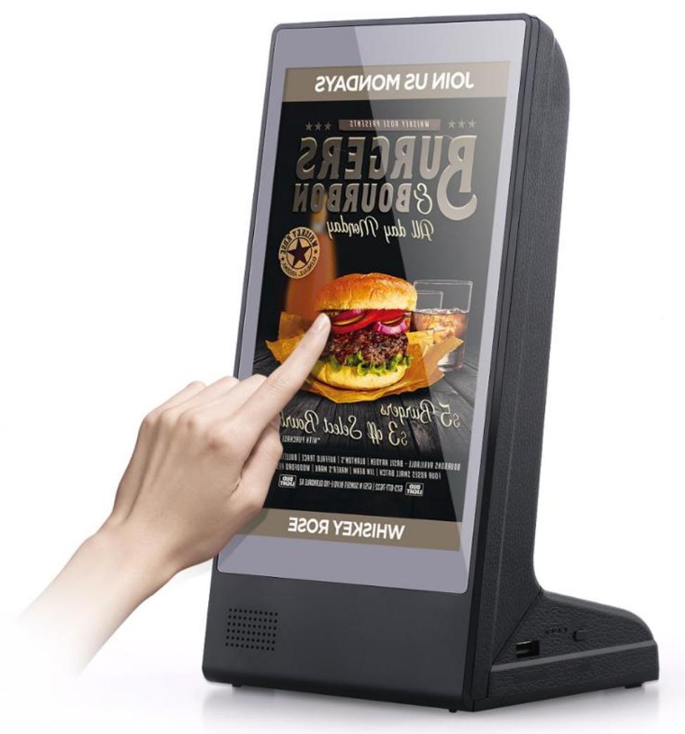 Touch screen menu for restaurants