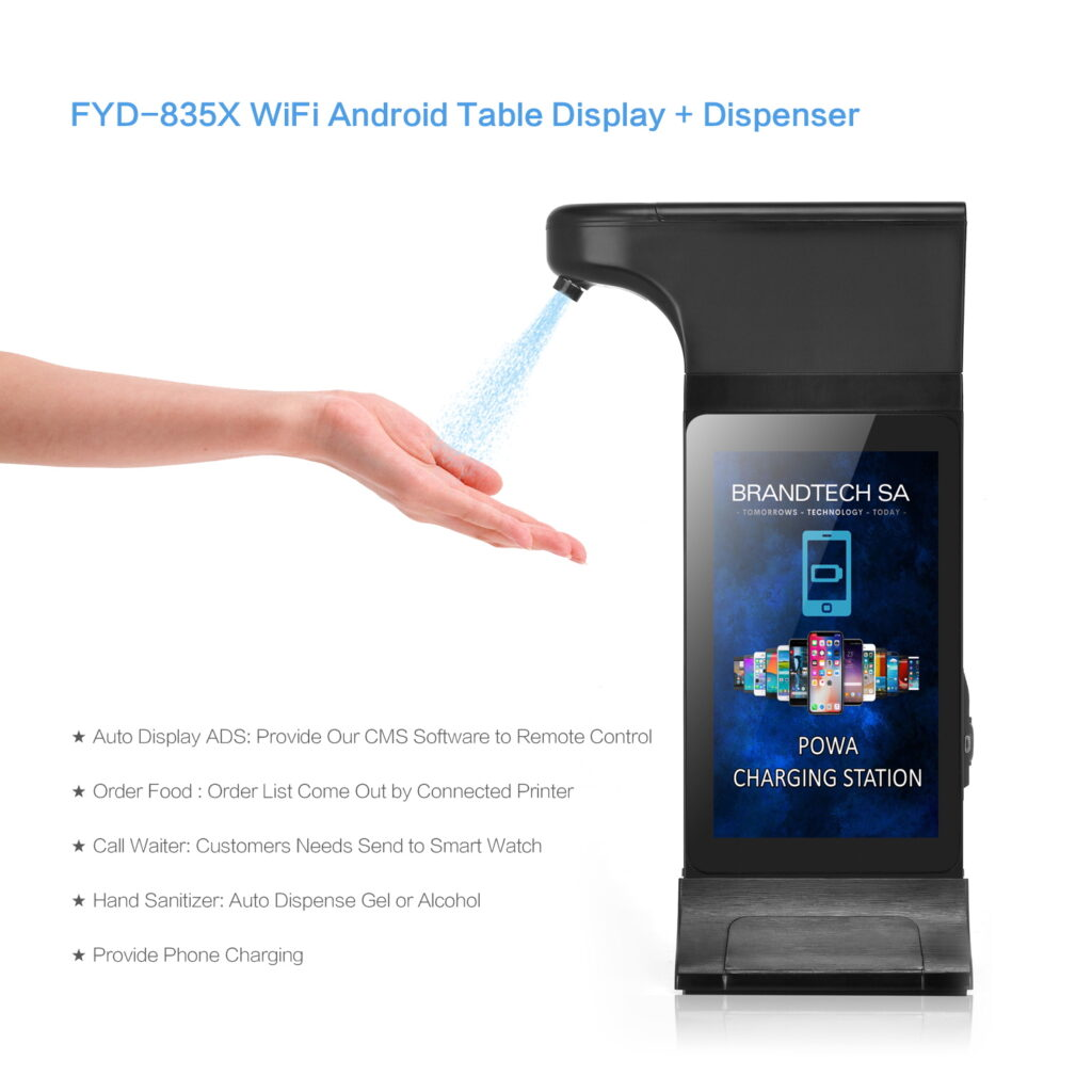 Wifi Android table display and dispenser